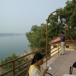 Overlooking Narmada river from the restaurant terrace
