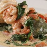 Spinach Ravioli with Shrimp