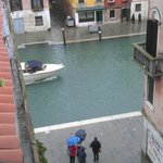 View from roof terrace during Acqua Alta