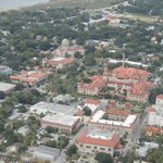down-town st.augustine and view of flagler college
