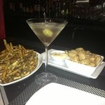 Happy Hour - Dirty Martini with Truffle Fries and Calamari