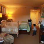 standard room w/ our requested crib