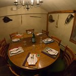 The Music Room is the smallest and most intimate of the private dining rooms; accommodates 6-8.