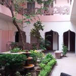 Courtyard inside hotel