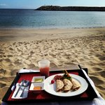 This was my Thanksgiving dinner on the private beach- a lot to be grateful for!