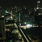 Night shot of BKK from Club Lounge