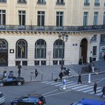 The unassuming entrance to the W Paris Opera hotel