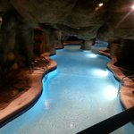 Pool cave at night