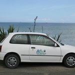 Our rental car on Great Barrier
