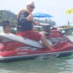 jet skiing from beach