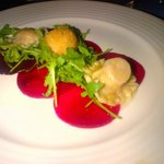 The Address Montgomerie Dubai - Goat Cheese Ravioli, Beetroot Carpaccio, Rocket Salad