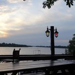 The view of the Zambezi river from the bar.