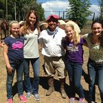 Family with our Gaucho Cesar (very nice guy)