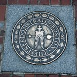Freedom Trail marker at Paul Revere's house