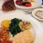 Vegetarian grill and Turnberry grill at breakfast