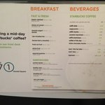 Coffee menu breakfast included in the rate. The choice of a cup of coffee or juice, one type of