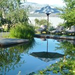 The beautiful little Eco pool, stunning with supberb mountain views