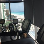 View of beach from gym