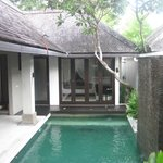 Private pool and view of room