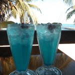 What's paradise without a couple of blue drinks?
