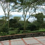Beautiful view from the grounds overlooking Lake Nakuru