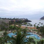 Picture perfect resort and ocean view from room