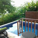 Plunge pool from our verandah.