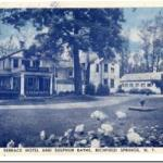 This is a post card of the original Lake House Hotel from the late 1800's.