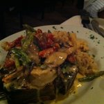 Veal Shank topped with Shrimp