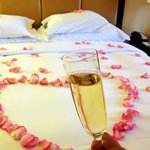 Rose petals to go with our champagne and strawberries