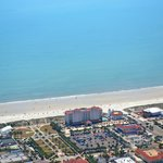 Aerial View of Hotel and Jacksonville Beach