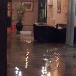 Flooded social area