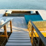 over-water bungalow deck
