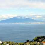 Mt Vesuvius from room balcony