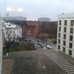 View from the level of my room. I guess Warsaw is always grey this time of year
