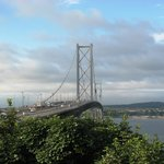 View of Forth Rd Bridge from garden