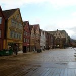 Historic Bryggen is right around the corner.