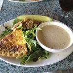 Artichoke Quiche with New England Clam Chowder