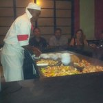 Japanese show cooking in al a carte resturant