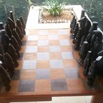 Lifesize chess board