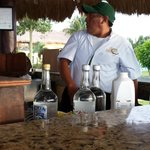 Armondo  great bartender. at beach