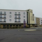 Premier Inn Cambridge entry off Ring Fort Road.