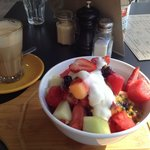 Fresh seasonal fruit breakfast at jak $ hill