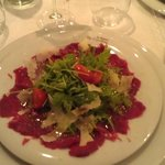 Beef Carpaccio in the excellent restaurant
