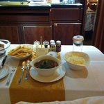 Room service - Malay Oxtail Soup is to die for!