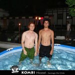Swimming in the Kombi pool