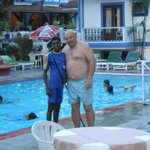 Hubby with one of the pool attendants