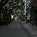 The quiet of Au Trieu St. in the early morning