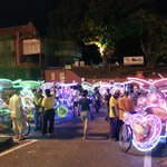 Colorful trishaw in Melaka..1 hour $50..half hour $25 ride