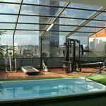 Gym and spa pool